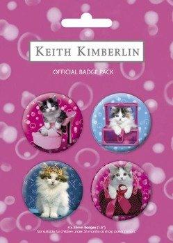 zestaw 4 przypinek KEITH KIMBERLIN cats BP0079