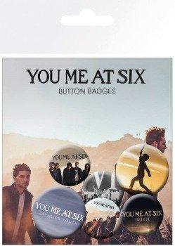 zestaw 6 szt. przypinek YOU ME AT SIX - MIX