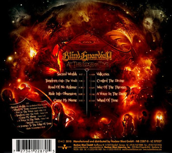 BLIND GUARDIAN:  AT THE EDGE OF TIME (2CD)