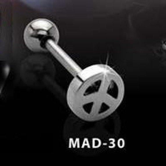 KOLCZYK DO JęZYKA PACYFKA grubość 1,6mm średnica kulki 5mm [MAD-30]