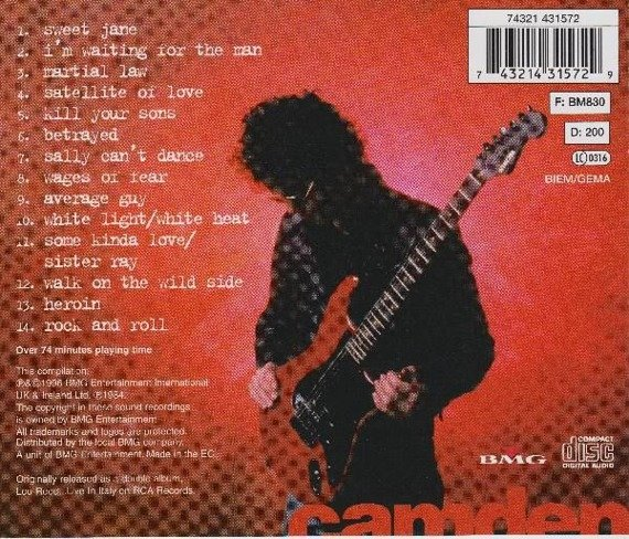LOU REED: IN CONCERT (CD)