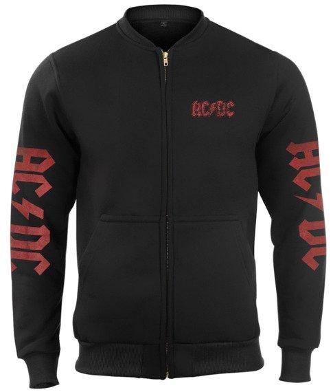 bluza AC/DC bejsbolówka, rozpinana