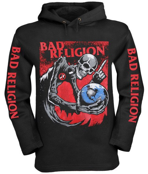 bluza BAD RELIGION, czarna z kapturem