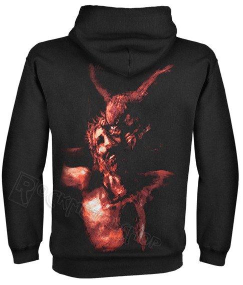 bluza BEHEMOTH - CHRIST, czarna, kangurka z kapturem