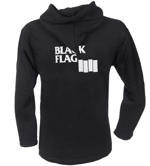 bluza BLACK FLAG czarna, z kapturem