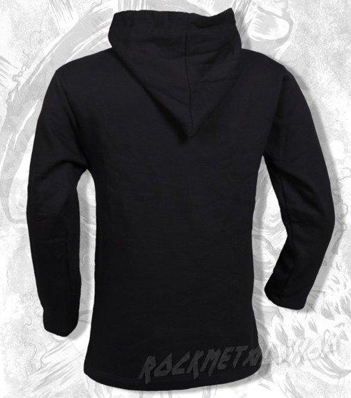 bluza BLACK ICON - CHAOTIC SKULL czarna z kapturem (BICON009)