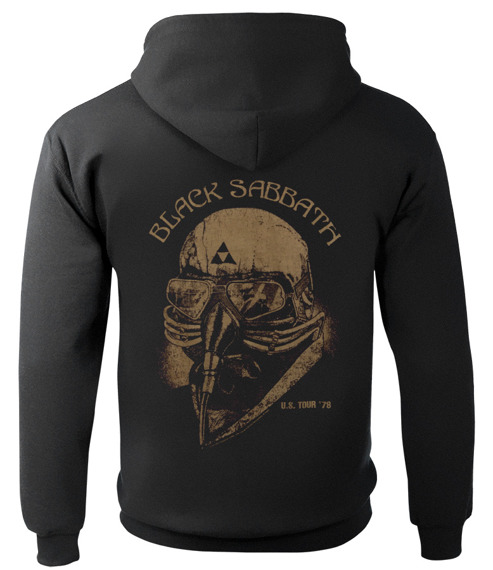 bluza BLACK SABBATH - TOUR 78, rozpinana z kapturem