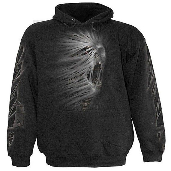 bluza CAST OUT czarna, z kapturem
