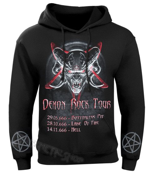 bluza DEMON ROCK TOUR czarna, z kapturem