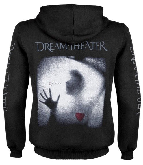 bluza DREAM THEATER - ELEVEN czarna, rozpinana z kapturem