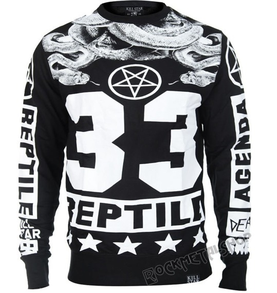 bluza KILL STAR - REPTILE, bez kaptura
