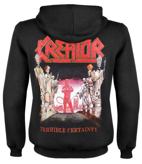bluza KREATOR - TERRIBLE CERTAINTY rozpinana,  z kapturem