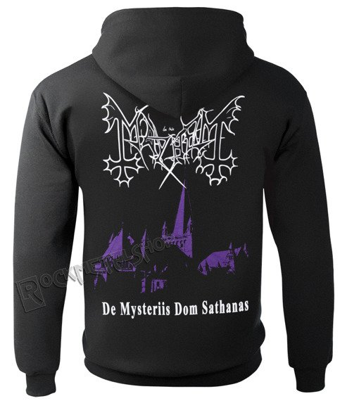bluza MAYHEM - DE MYSTERIIS DOM SATHANAS, rozpinana z kapturem