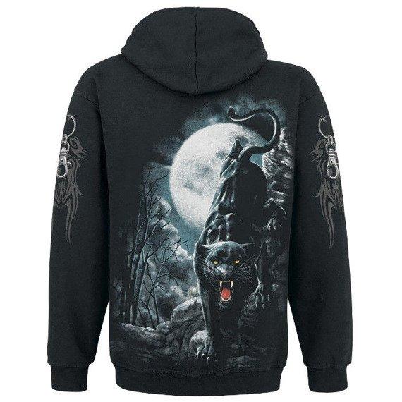 bluza MIDNIGHT PANTHER czarna, z kapturem