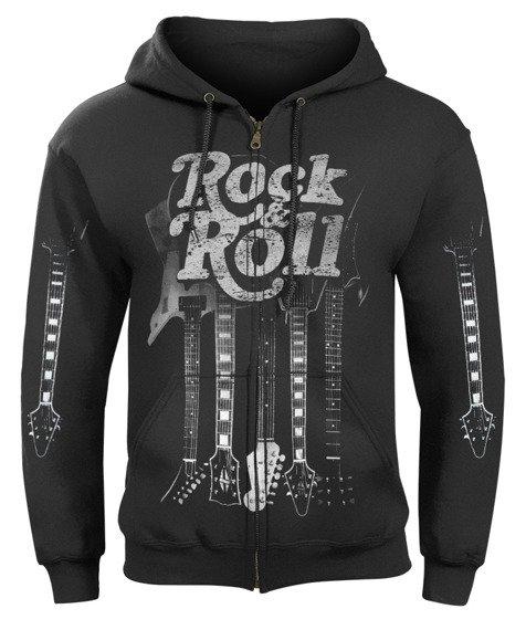 bluza ROCK & ROLL GUITARS rozpinana, z kapturem