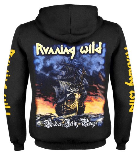 bluza RUNNING WILD - UNDER JOLLY ROGER rozpinana, z kapturem