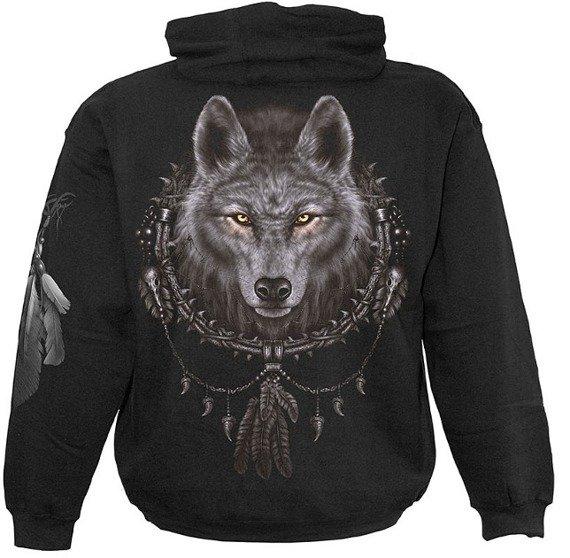 bluza WOLF DREAMS czarna, z kapturem