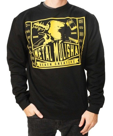 bluza bez kaptura METAL MULISHA - TRADE CREW czarna