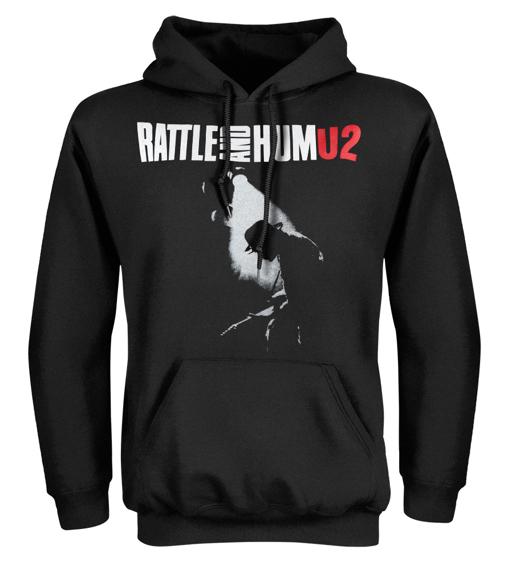 bluza czarna kangurka U2 - RATTLE AND HUM