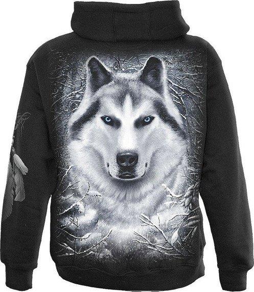 bluza rozpinana z kapturem WHITE WOLF