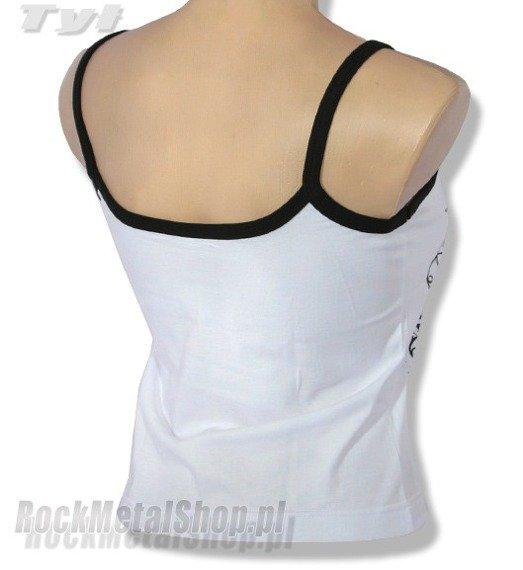 bluzka damska AC/DC na ramiączkach, biała