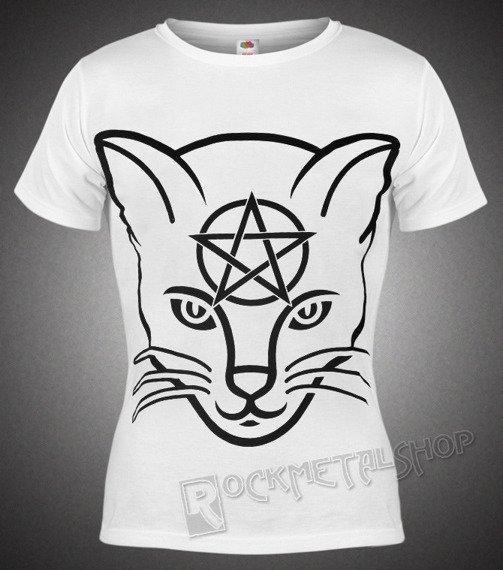 bluzka damska AMENOMEN - HEAD CAT (OMEN029DA WHITE)
