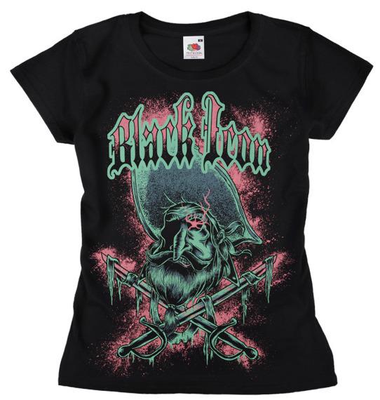 bluzka damska BLACK ICON - PIRATE (DICON098 BLACK)
