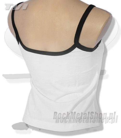 bluzka damska GIRL ANGEL biała, na ramiączkach