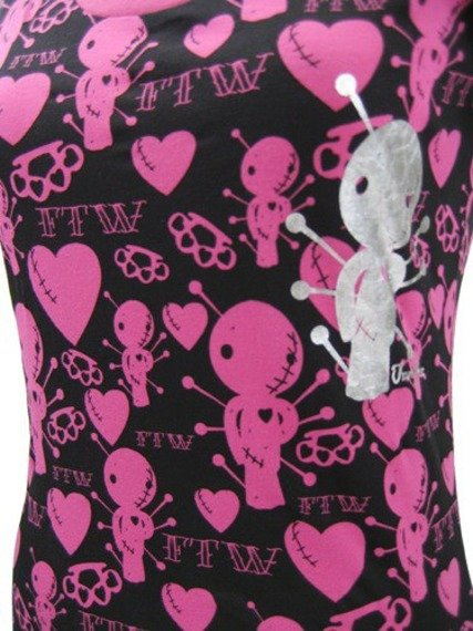bluzka damska  IRON FIST - VOODOO LOVE (FUSCHIA PINK)