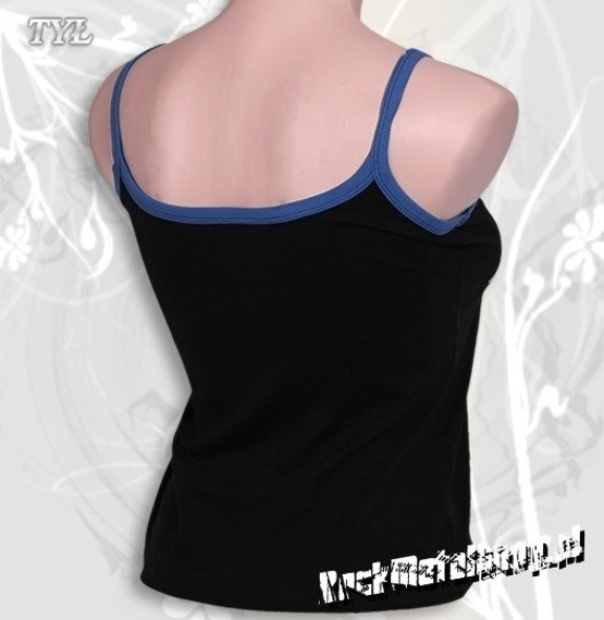 bluzka damska KORN - LOGO czarna, na ramiączkach
