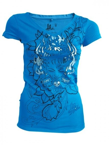 bluzka damska LA INK - TURQUOISE (TS420113LIK)