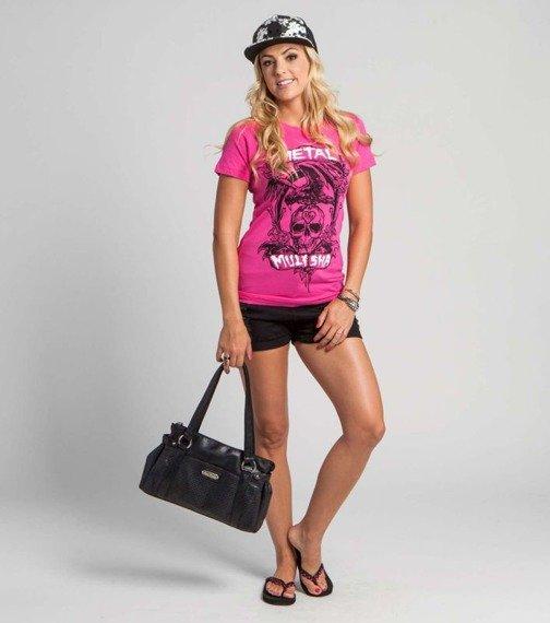bluzka damska METAL MULISHA - TROUBLEMAKER CREW różowa
