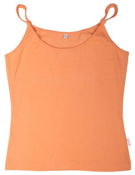 bluzka damska POMARAŃCZOWA na ramiączkach