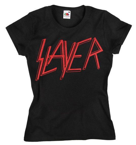 bluzka damska SLAYER - CLASSIC RED LOGO