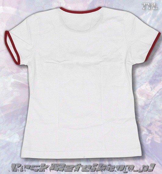 bluzka damska THERION - LOGO biała