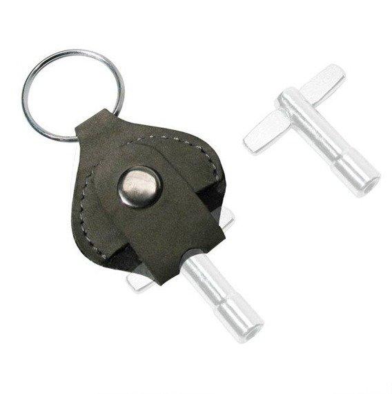 brelok na klucz do perkusji GAUCHO skórzany / czarny