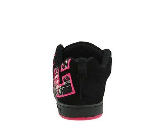 buty damskie DC- COURT GRAFFIK SE (BLACK/CRAZY PINK/BLACK)
