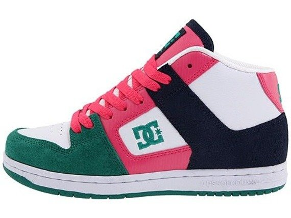 buty damskie DC - MANTECA 2 MID (WHITE/HOT PINK)