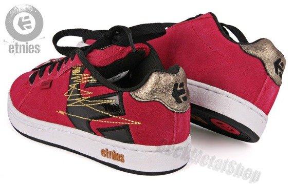 buty damskie ETNIES - FADER (RED/BLACK)