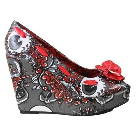 buty na koturnie IRON FIST - OH NO WEDGE (CHARCOAL) (IFL0092)