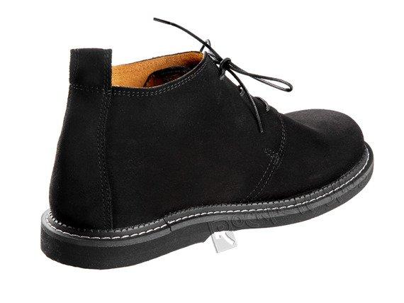 """buty zamszowe STEADY'S - """"SZCZURKI"""" czarne (STE/133) welur"""