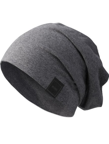 czapka MASTERDIS -  MSTRDS JERSEY BEANIE heath. charcoal