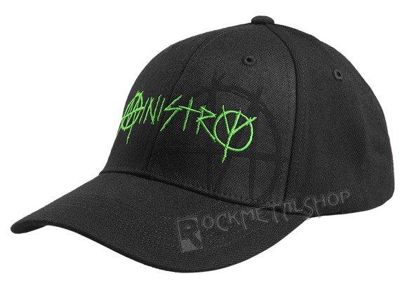 czapka MINISTRY - BLACK AND GREEN FLEX CAP