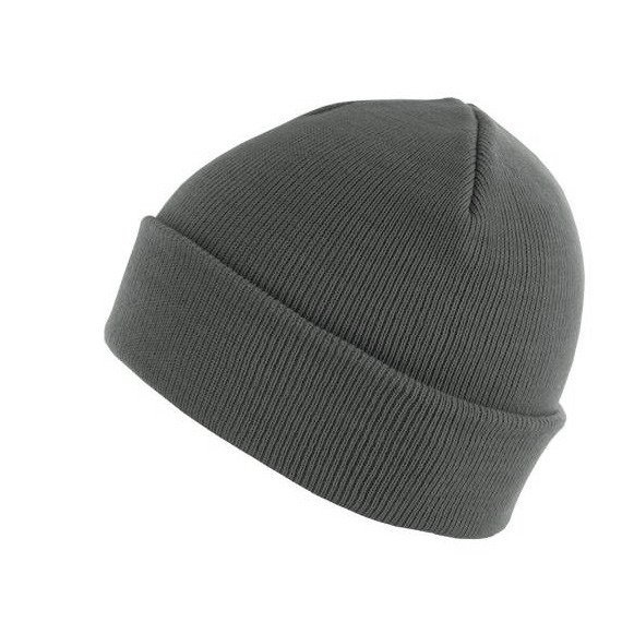 czapka zimowa MASTERDIS - BEANIE BASIC FLAP dk.grey