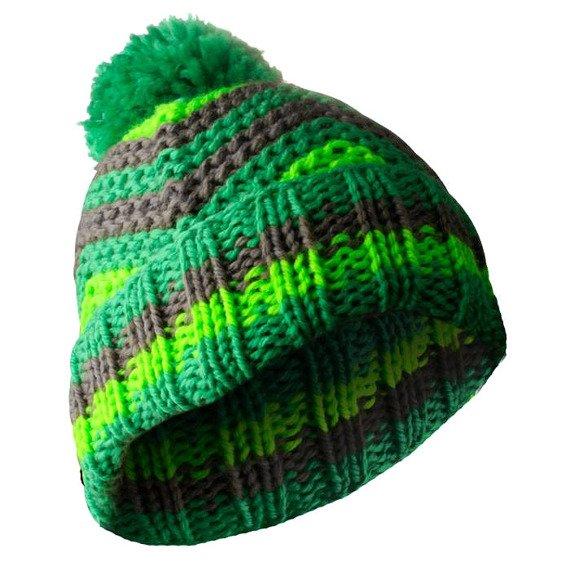 czapka zimowa MASTERDIS - BEANIE ZIG ZAG kelly/lime