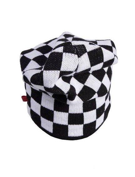 czapka zimowa MASTERDIS - C3 CHECK KNIT BEANIE black/white