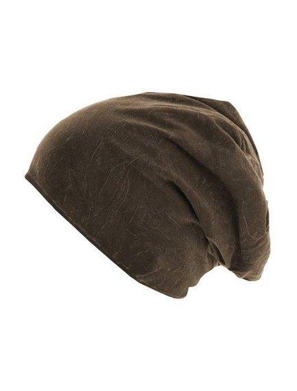 czapka zimowa MASTERDIS - STONEWASHED JERSEY CHOCOLATE