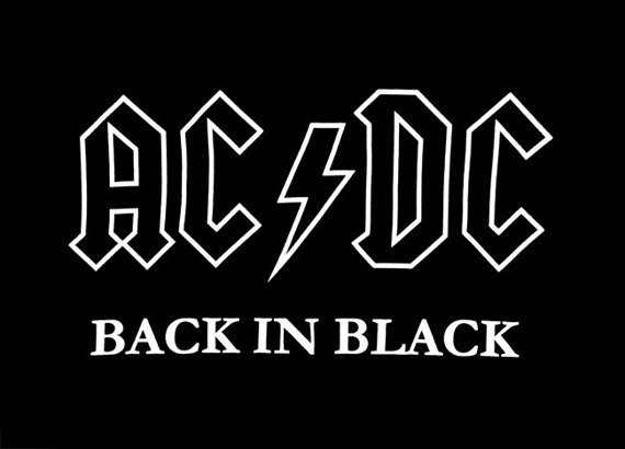 ekran AC/DC - BACK IN BLACK