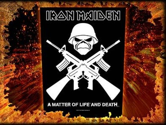 ekran IRON MAIDEN - CROSSED GUNS
