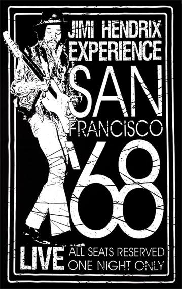 flaga JIMI HENDRIX - SAN FRANCISCO '68